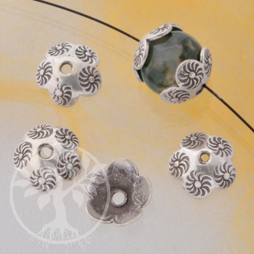 Perlkappen Venti Echt Silber