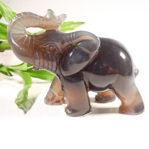 Elefant  Carneol Steinfigur