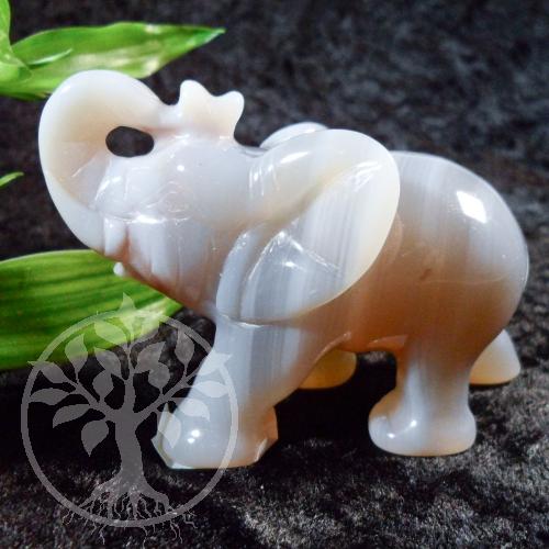Elefant Achat Steinfigur