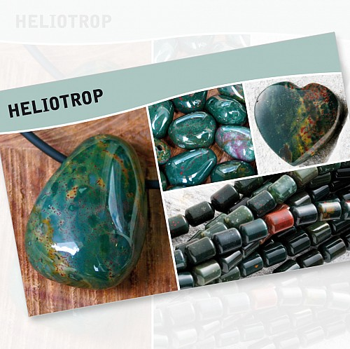 Heliotrop Mineral Stone Description Cards