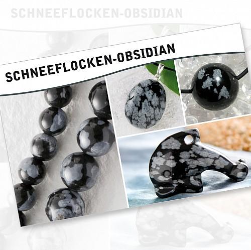 Obsidian Schneeflocke Steine Karte