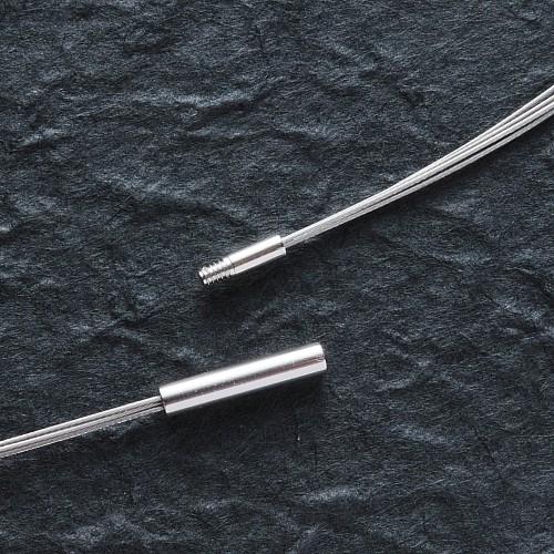 Halsreif Edelstahl / Stahl 50cm 2.2mm 4-reihig