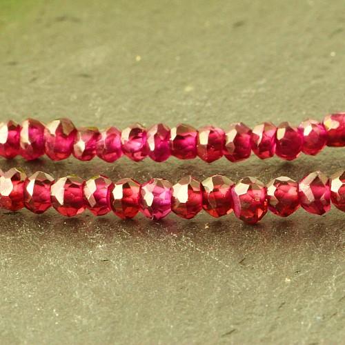 Granat Halskette Rhodolith facettierte Perlen