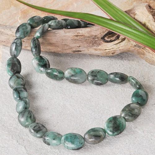 Smaragd Steinkette oval A