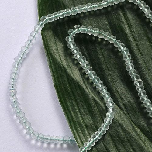 Prasiolith Schmuckperlen 4mm 40cm Grüner Amethyst facettierte Perlen