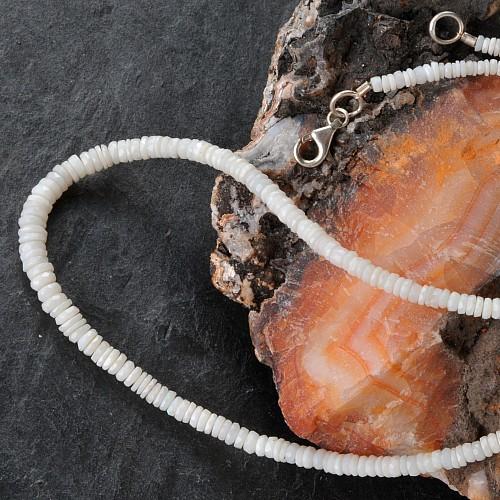 Opal White Gemstone Necklace Australia