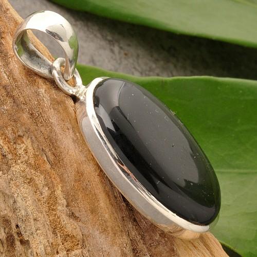 Onyx Hänger Sterling Silber 925