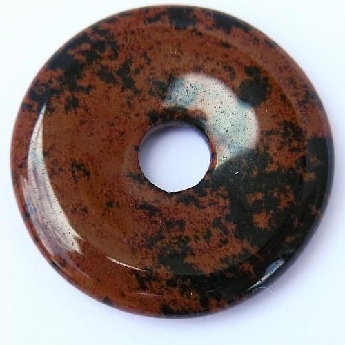 Mahagoni Obsidian Donut A 30mm