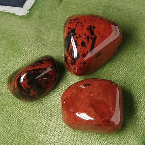 Mahagoni Obsidian Handsteine 3 Stk