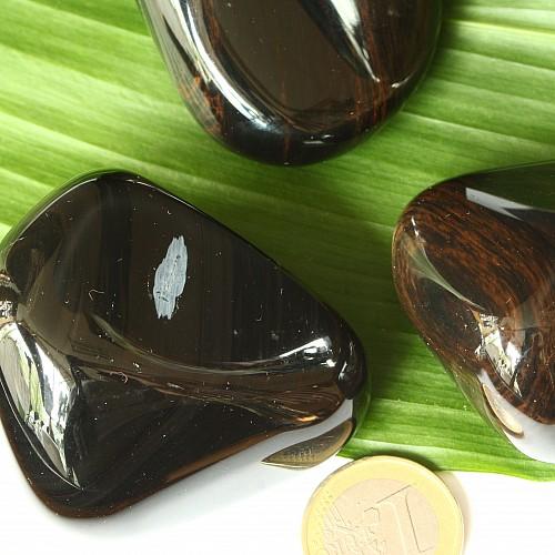Obsidian rot gold Trommelstein
