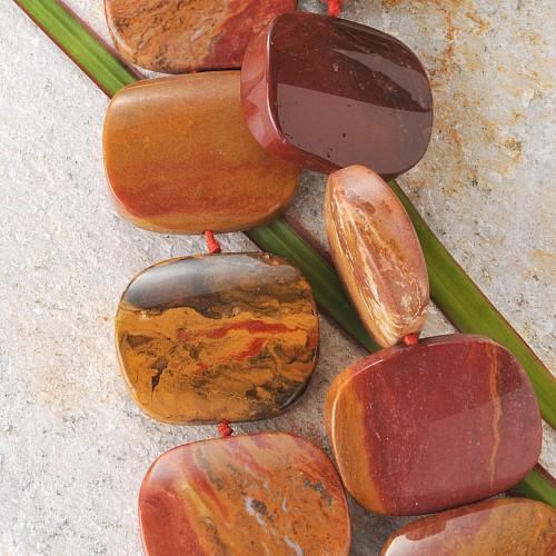 Jaspis Schmuckperlen ca. 40cm Strang aus Edelsteinperlen