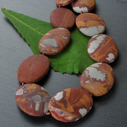 Noreena Jaspis Halskette matte Perlen