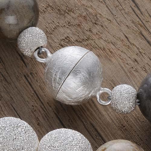 8mm Kaschierperle Silberperle diamantiert großes Loch