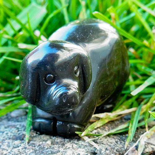 Onyx Schweinchen Schwein Steinfigur 50mm