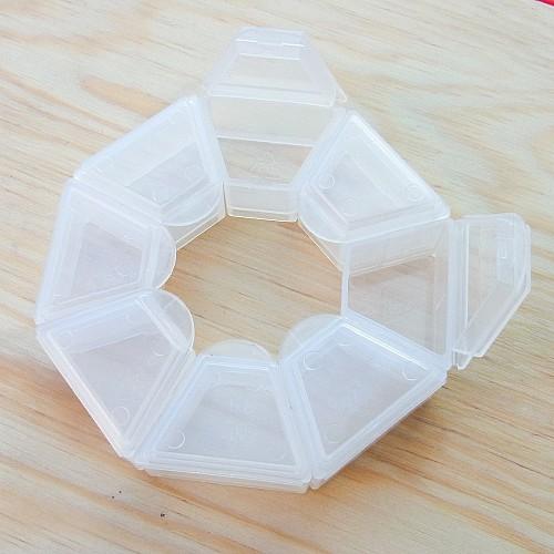 Perlenboxen 8 Fächer einzeln zu öffnen 5 Stück