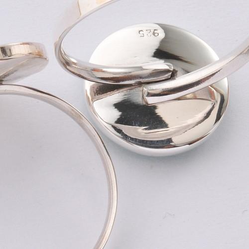 Silberring Onyx Silberspirale