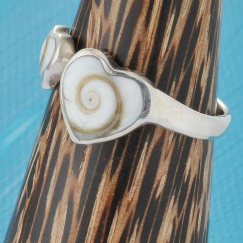 Silver Ring Shiva Hearts