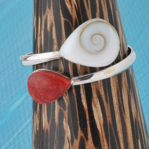 Ring Silver Shiva Coral