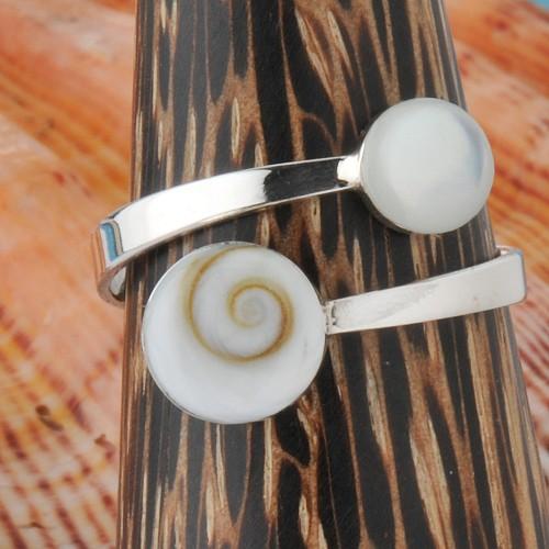 Silver Ring Shiva White