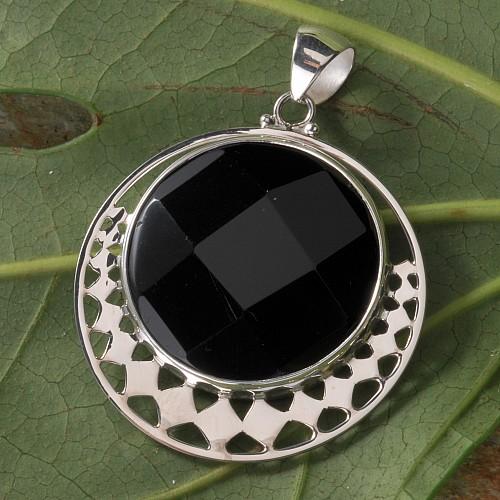 Black Stone Silber Orbit rund