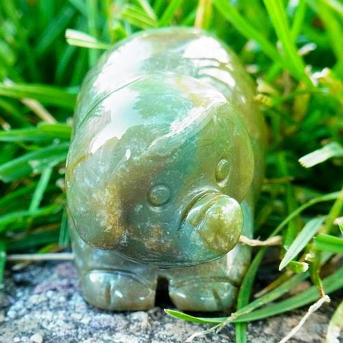 Moosachat Schweinchen Tierfigur