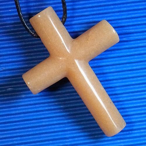 Kreuz Orangencalcit 40x60mm