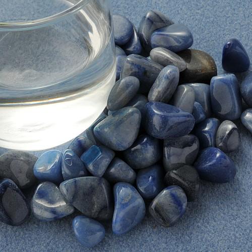 Blauquarz Trommelsteine Klein S 250 Gramm
