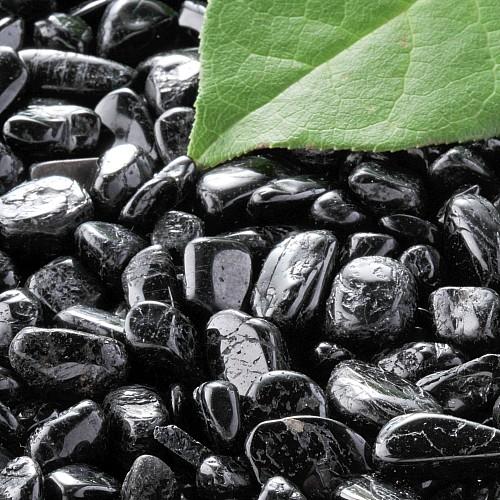 Schwarzer Turmalin Trommelsteine Klein S 250 Gramm