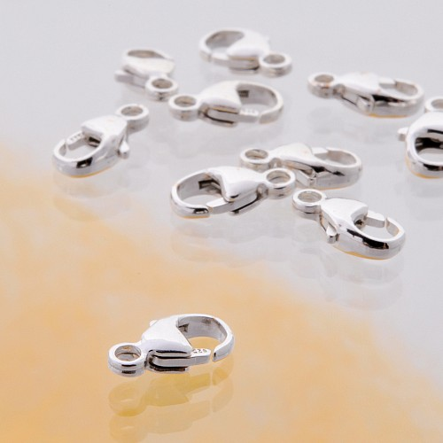 Oval Trigger Clasp, Silver 925, 7,8 mm, 10 x