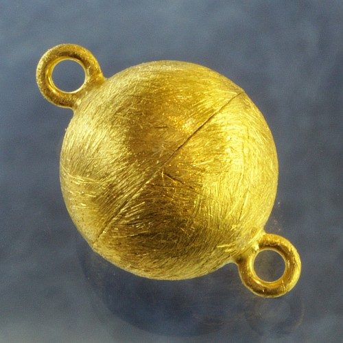 Magnetic Clasp Gold-plated brushed Ball 10 mm