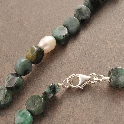 Smaragd Edelsteinkette Perle