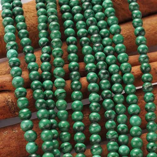 Malachit Kugelperlen 4mm Malachitperlen Natur unbehandelt