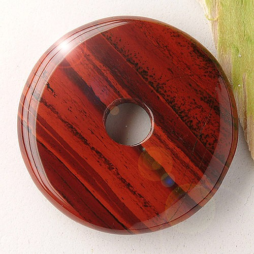 Roter Jaspis Donut Regenbogen Jaspis rot 30mm