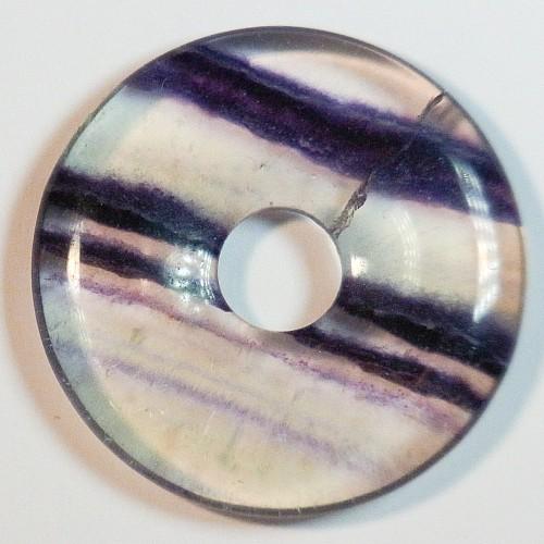 Fluorit Donut 30mm AA-Qualitaet Anhänger