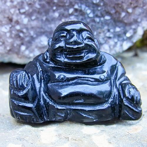 Obsidian Edelstein Dekoration Buddha