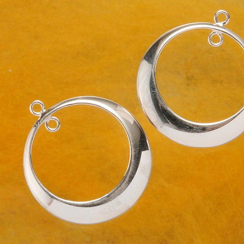 Earring Frame Round Silver 925