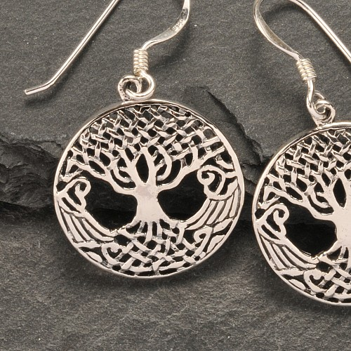 Silver Earring Tree of Life