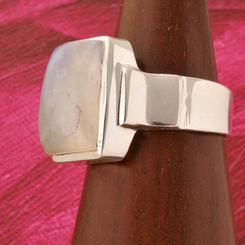 Mondstein Regenbogen Silberring 925 Query