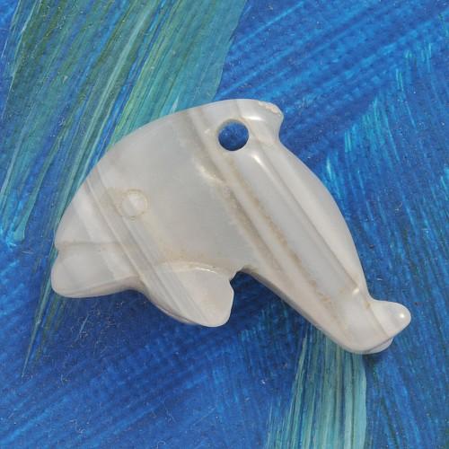 Delfin Anhänger aus Achat klein