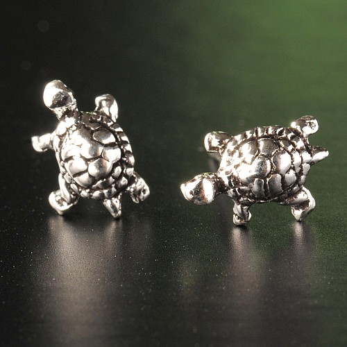 Silberbox KSJ15 Schildkröten Ohrringe Ohrgehänge 925er Silber matt glänzend
