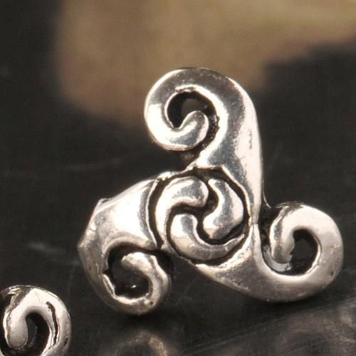 Triskele Ohrstecker Silber 925