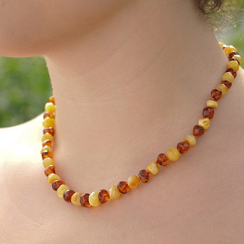 Amber Necklace Bicolor