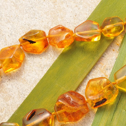 Amber Necklace Flat