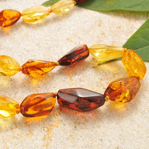 Multicolor Amber Necklace