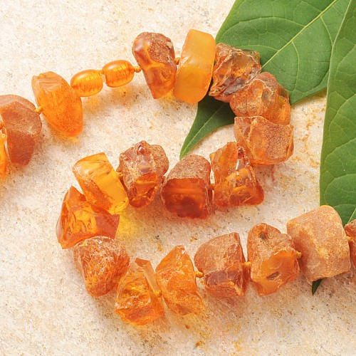 Amber Necklace Natur Cube