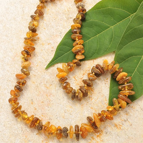 Amber Necklace Chips