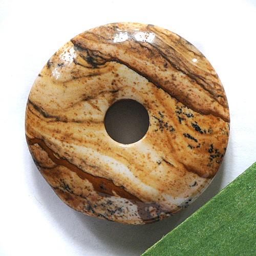 Landschaftsjaspis Edelstein Donut A 30mm Landjaspis Anhänger
