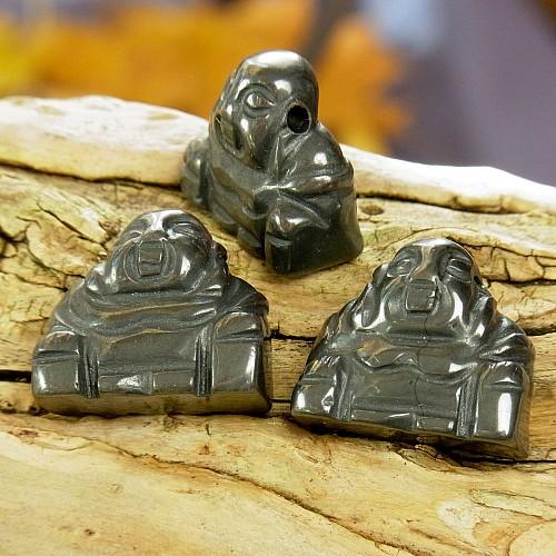 Hämatit Buddha Anhänger Edelsteinfigur