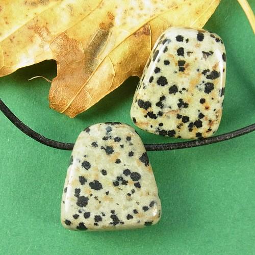 Dalmatiner Jaspis Steinanhaenger Dreieck
