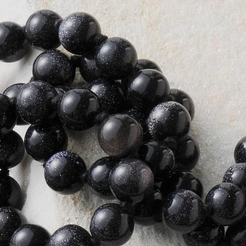 Blaufluss Kugelperlen Halskette 50 cm